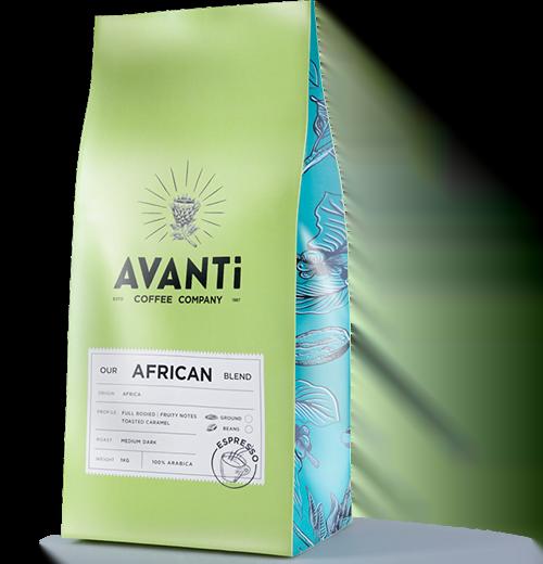 green avanti coffe bean bag