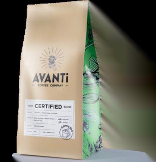 brown avanti coffee bean bag