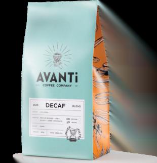 blue avanti coffee bean bag