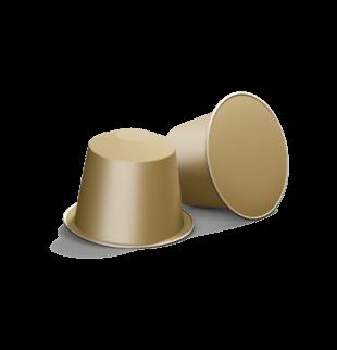 2 gold coffee capsules