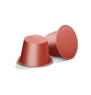 2 red coffee capsules